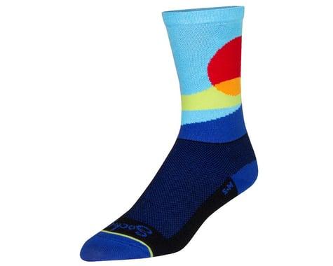 "Sockguy 6"" Socks (Red Sun) (S/M)"