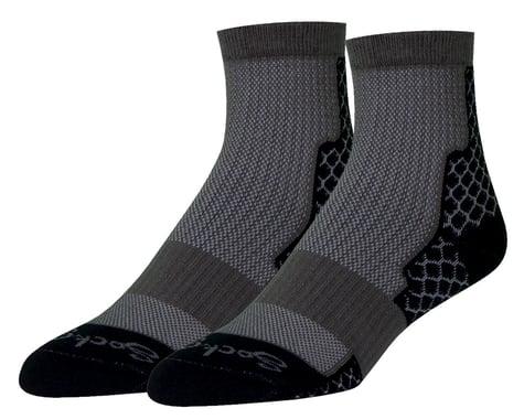 """Sockguy 4"""" Trailhead Socks (Black) (L/XL)"""