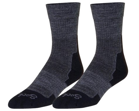 """Sockguy 7"""" Trailhead Socks (Charcoal) (L/XL)"""