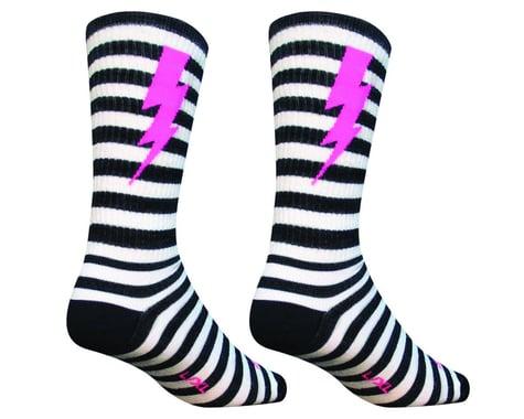 "Sockguy 8"" Wool Socks (Lightning) (L/XL)"