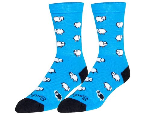 "Sockguy 6"" Wool Socks (Blacksheep) (L/XL)"