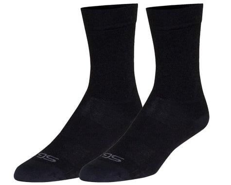"""Sockguy 6"""" SGX Wool Socks (Black) (L/XL)"""