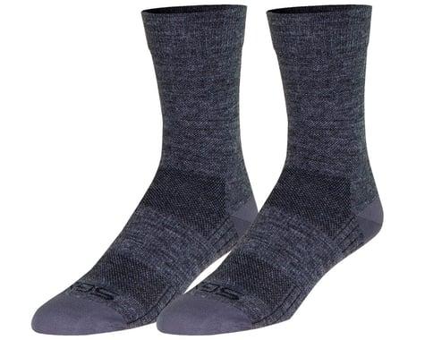 """Sockguy 6"""" SGX Wool Socks (Grey) (L/XL)"""