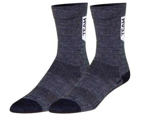 "Sockguy 6"" SGX Wool Socks (Charcoal) (L/XL)"