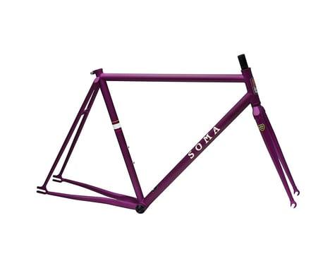 Soma Rush Track Frame/Fork (Matte Purple) (55cm)