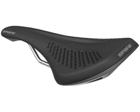 Spank Oozy 220 Saddle (Black/Grey) (Chromoly Rails) (144mm)
