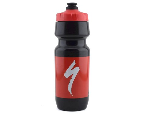 Specialized Big Mouth Water Bottle (Black/Red Topo Block) (24oz)