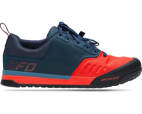 Specialized 2FO Flat 2.0 Mountain Bike Shoes (Cast Blue/Rocket Red) (36)