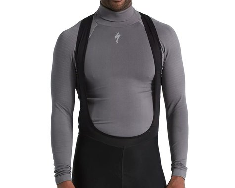 Specialized Men's Seamless Roll Neck Long Sleeve Base Layer (Grey) (L/XL)