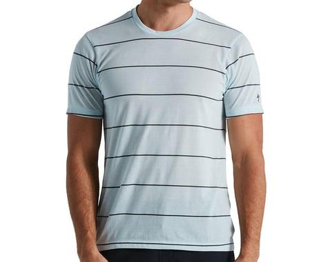 Specialized Men's Drirelease Tech Tee (Ice Blue/Stripe) (L)