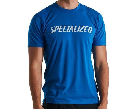 Specialized Men's Wordmark T-Shirt (Cobalt) (M)
