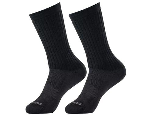 Specialized Hydrogen Aero Tall Road Socks (Black) (S)