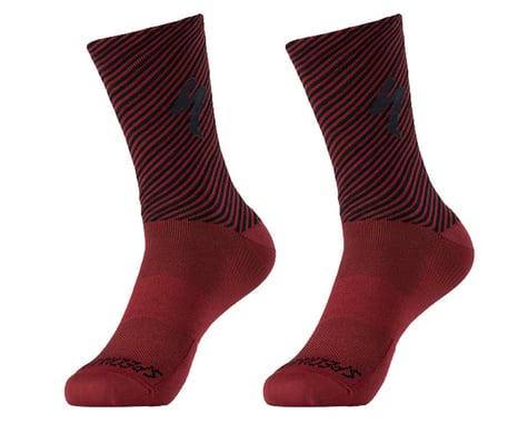 Specialized Soft Air Road Tall Socks (Crimson/Black Stripe) (L)