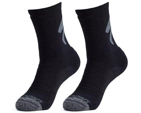 Specialized Merino Deep Winter Tall Logo Socks (Black) (S)