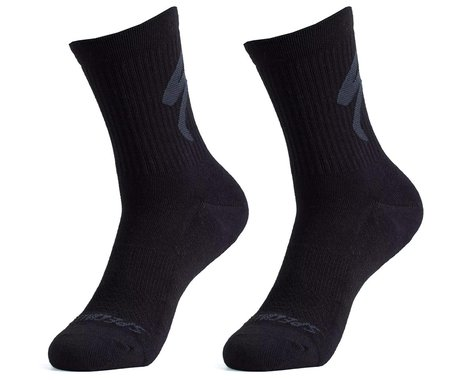 Specialized Cotton Tall Logo Socks (Black) (M)