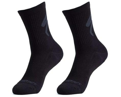 Specialized Cotton Tall Logo Socks (Black) (L)