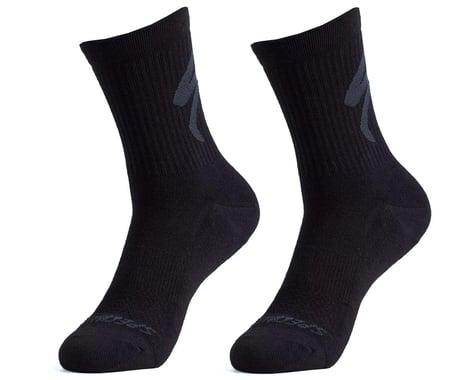 Specialized Cotton Tall Logo Socks (Black) (XL)