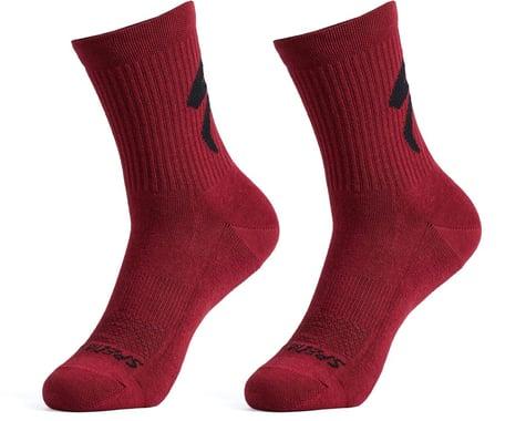 Specialized Cotton Tall Logo Socks (Maroon) (M)
