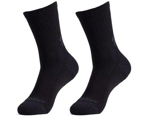 Specialized Cotton Tall Socks (Black) (XL)