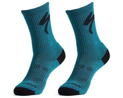 Specialized Merino Midweight Tall Logo Socks (Tropical Teal) (L)