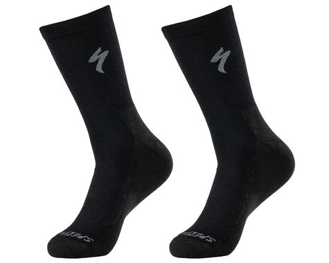 Specialized Primaloft Lightweight Tall Logo Socks (Black) (S)