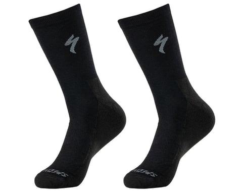 Specialized Primaloft Lightweight Tall Logo Socks (Black) (M)