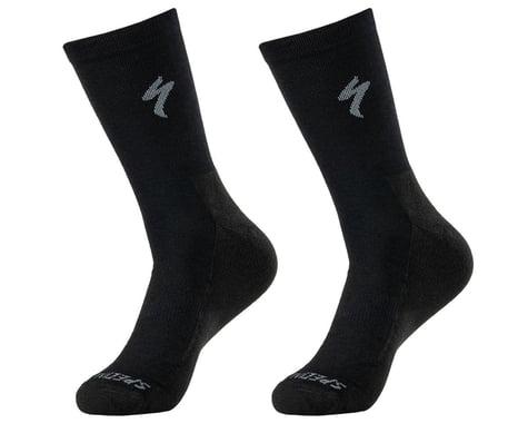 Specialized Primaloft Lightweight Tall Logo Socks (Black) (XL)