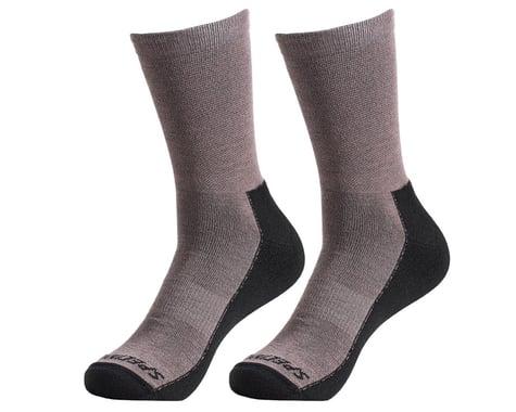 Specialized Primaloft Lightweight Tall Logo Socks (Gunmetal) (L)