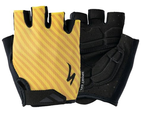 Specialized Men's Body Geometry Sport Gel Gloves (Brassy Yellow Stripe) (M)