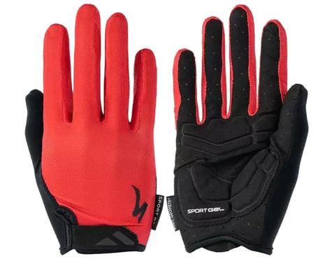 Specialized Body Geometry Sport Gel Long Finger Gloves (Red) (S)