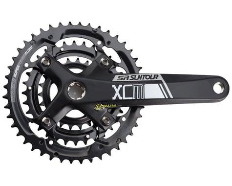 Sr Suntour XCM-T Crankset - 175mm, 9-Speed, 44/32/22t, 104/64 BCD, Shimano Octal
