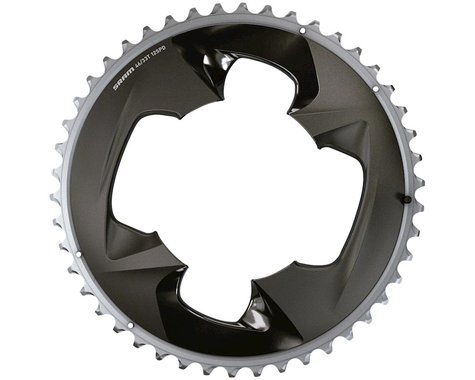 SRAM Force AXS 2x Outer Aluminum 12-Speed Chainring (Grey) (107 BCD) (4-Bolt) (46T)