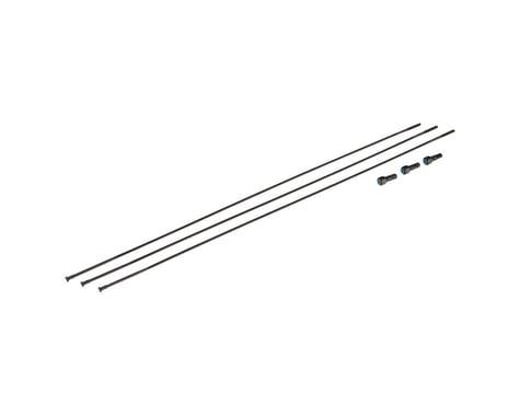 SRAM Bladed Straight-Pull Spokes/Nipples (Black) (External) (3-Pack) (281mm)