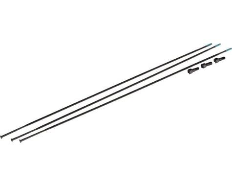 SRAM Bladed Straight-Pull Spokes/Nipples (Black) (External) (3-Pack) (294mm)