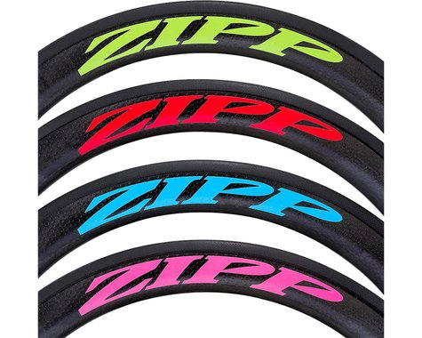 ZIPP Decal Set (303 Matte Red Log) (Complete for One Wheel)