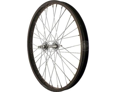 "Sta-Tru Front Wheel (Black) (Steel Rim) (Solid Axle) (36H) (3/8"" x 100mm) (20"" / 406 ISO)"