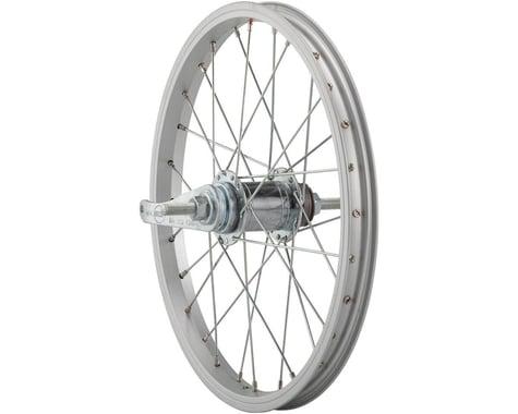 "Sta-Tru Rear Coaster Brake Wheel (Silver) (Freewheel) (3/8"" x 110mm) (16"" / 305 ISO)"