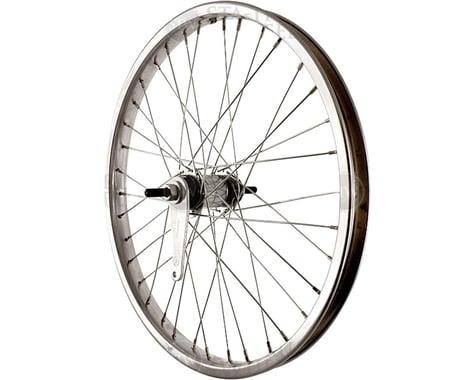 "Sta-Tru Rear Coaster Brake Wheel (Silver) (Freewheel) (3/8"" x 110mm) (20"" / 406 ISO)"