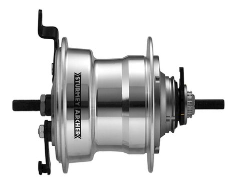 Sturmey Archer Drum Brake Rear Hub (Silver) (36H) (5 Speed)