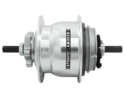Sturmey Archer Rear Disc Hub (Silver) (32H) (8 Speed) (23T) (Includes Twist Shifter)