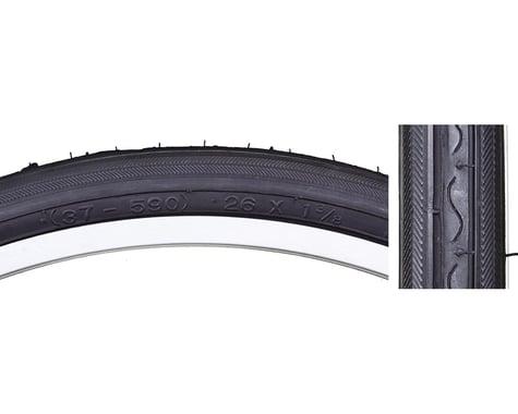 """Sunlite Road Raised Center Recreational Tire (Black) (1-3/8"""") (26"""" / 590 ISO)"""