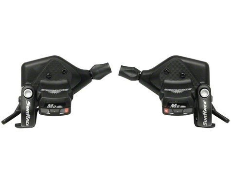 Sunrace M53 Trigger Shifters (Black) (Pair) (3 x 7 Speed)