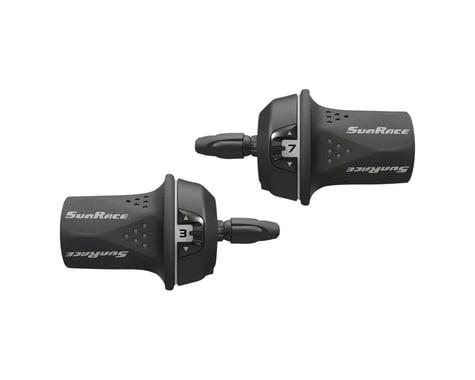 Sunrace M21 Twist Shifters (Black/Grey) (Pair) (3 x 8 Speed)