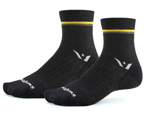 Swiftwick Pursuit Four Ultralight Socks (Retro Stripe/Charcoal) (S)