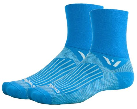 Swiftwick Aspire Four Socks (Lagoon Blue) (L)