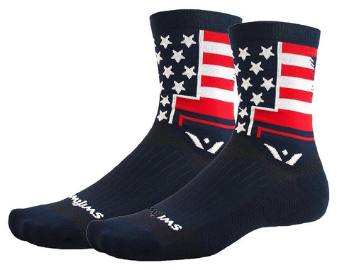 Swiftwick Vision Five Tribute Socks (USA Eagle) (L)