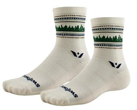Swiftwick Vision Five Winter Socks (Cream Forest) (L)