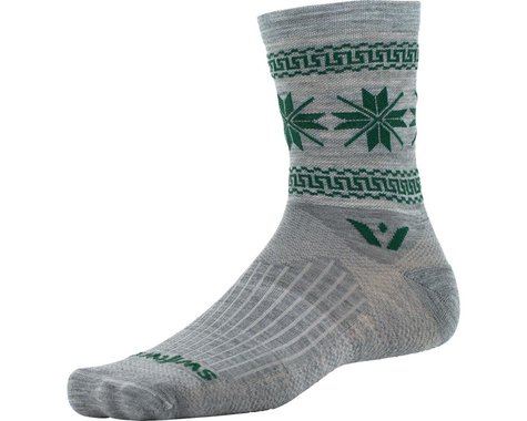 Swiftwick Vision Five Winter Collection Sock (Heather Gray/Green)