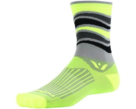 Swiftwick Vision Five Socks (Grey/Yellow)