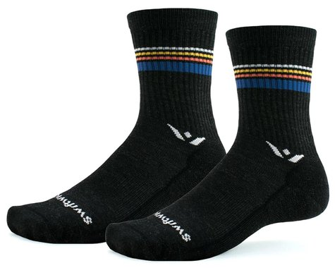 Swiftwick Pursuit Hike Six Lightweight Socks (Sunset Stripe) (S)